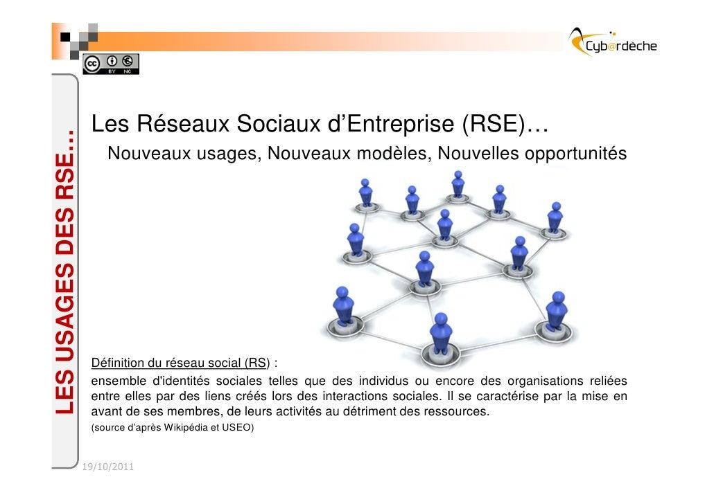 Les Réseaux Sociaux d'Entreprise (RSE)…LES USAGES DES RSE…                          Nouveaux usages, Nouveaux modèles, Nou...