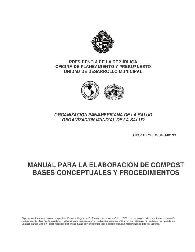 PRESIDENCIA DE LA REPUBLICA                             OFICINA DE PLANEAMIENTO Y PRESUPUESTO                             ...