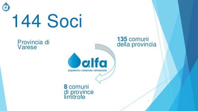 4 144 Soci 135 comuni della provincia 8 comuni di province limitrofe Provincia di Varese