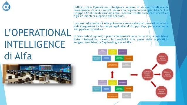 L'OPERATIONAL INTELLIGENCE di Alfa L'ufficio unico Operational Intelligence sezione di Varese coordinerà la realizzazione ...