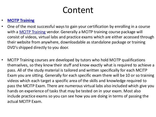 MCITP TRAINING MATERIAL PDF