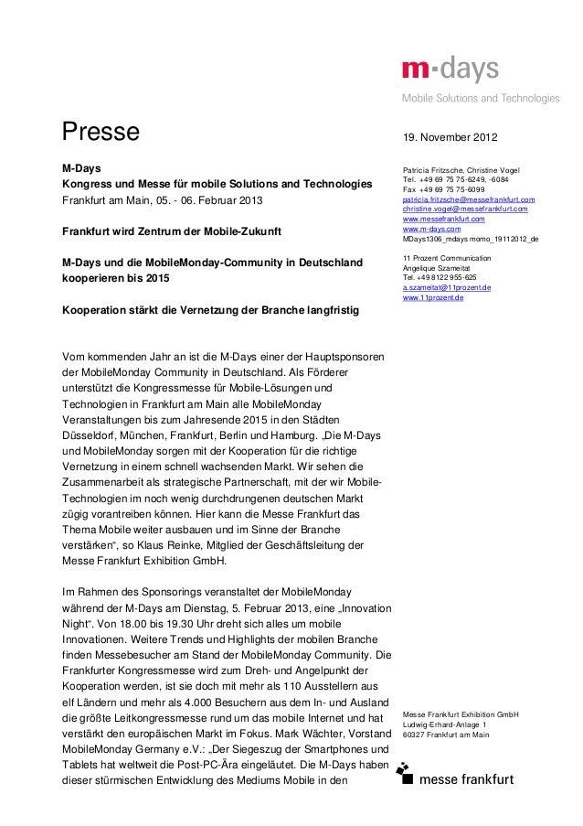 Presse                                                               19. November 2012M-Days                              ...