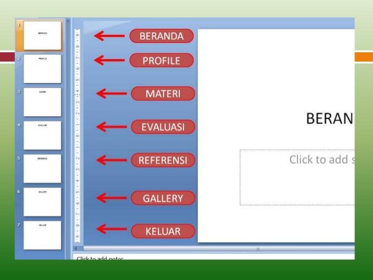 01. membuat tombol menu hyperlink di power point 2007