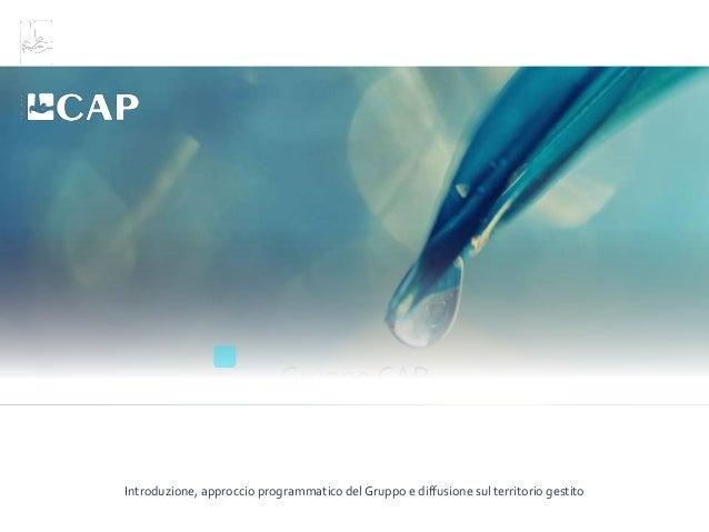 Il sistema Nord Milano - Gruppo CAP Slide 3