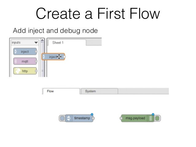 Create A First Flow Add Inject And Debug Node