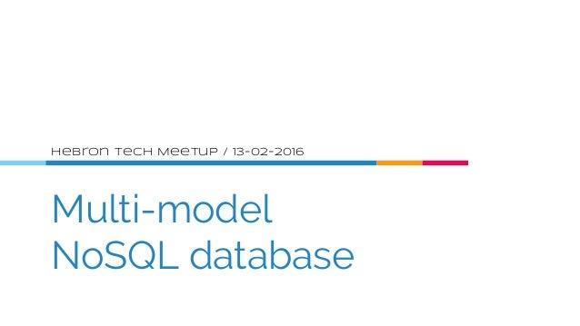 01   nosql and multi model database Slide 2