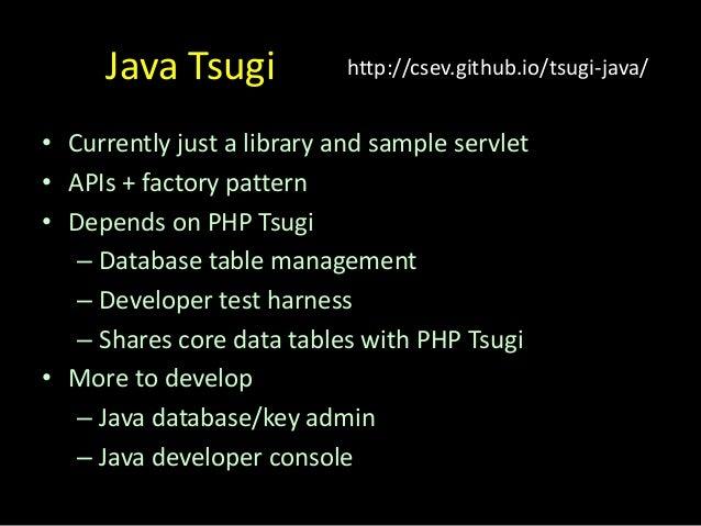 Thank You... www.tsugi.org