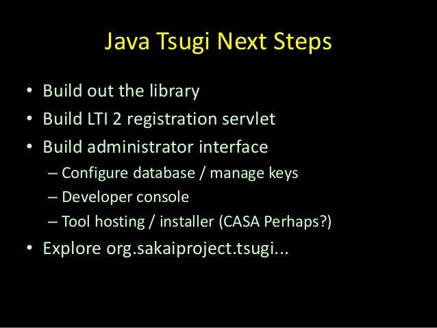 Updated Version: Tsugi Overview