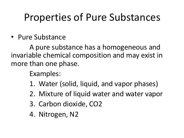 Examples of compound pure substances.