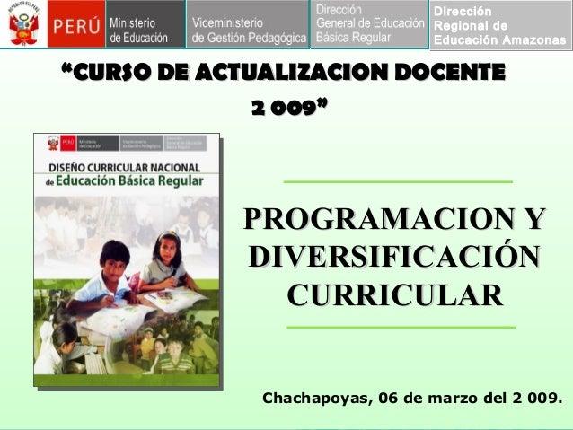 """Dirección Regional de Educación Amazonas Dirección Regional de Educación Amazonas """"""""CURSO DE ACTUALIZACION DOCENTECURSO DE..."""