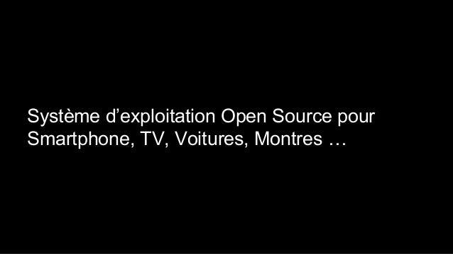 Système d'exploitation Open Source pour Smartphone, TV, Voitures, Montres …
