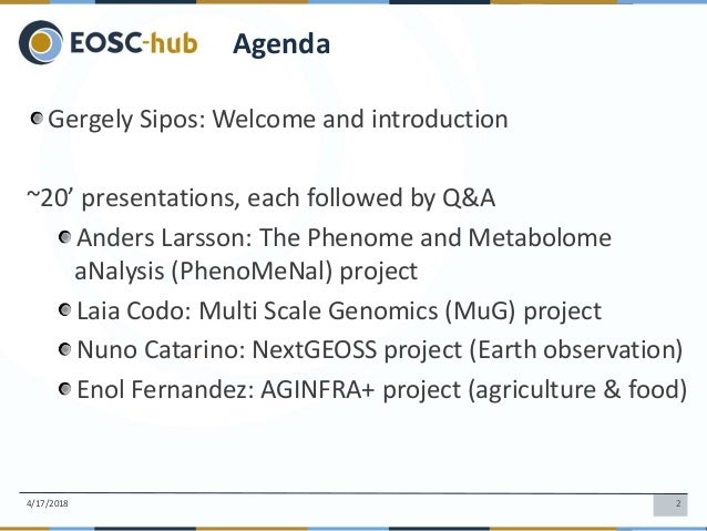 Gergely Sipos: Leading e-infra project communities into EOSC Slide 2