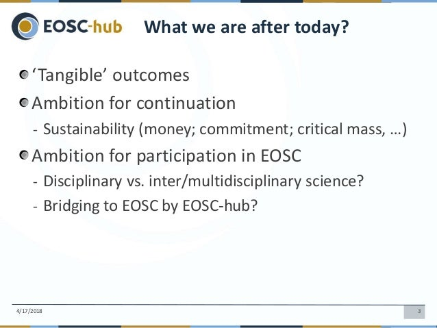 Gergely Sipos: Leading e-infra project communities into EOSC Slide 3