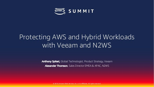 AWS Summit Singapore - Protecting AWS and Hybrid Workloads