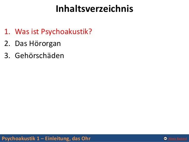 Psychoakustik 1: Einleitung, das Ohr Slide 3
