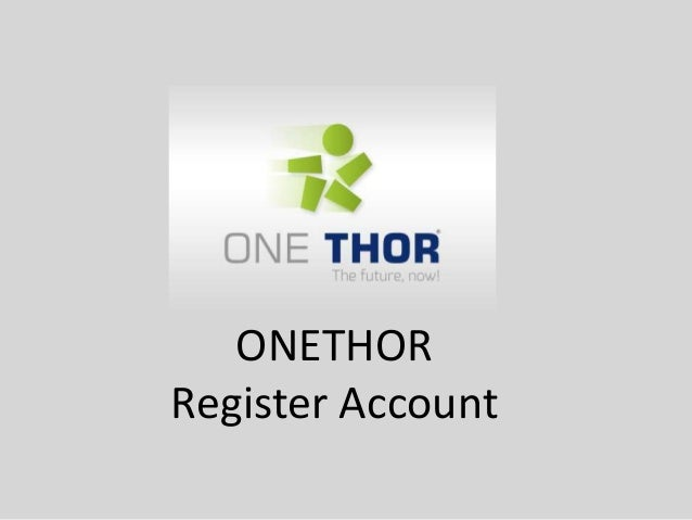 ONETHOR Register Account