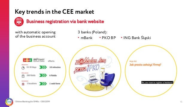 Online Banking for SMEs - CEE 2019 13 with automatic opening of the business account Online Banking for SMEs - CEE 2019 Ke...