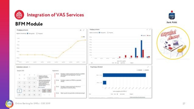 Online Banking for SMEs - CEE 2019 27 BFM Module Integration of VAS Services