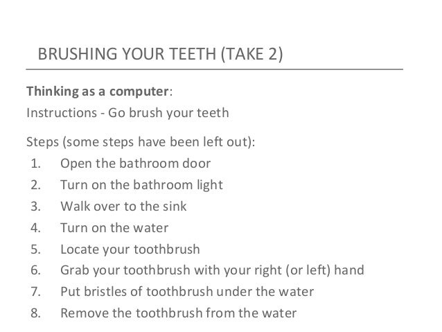 instructions on how to brush your teeth