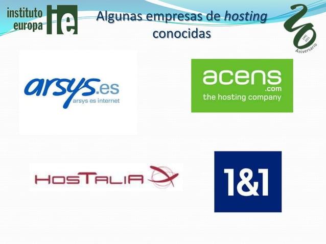 Algunas empresas de hosting         conocidas