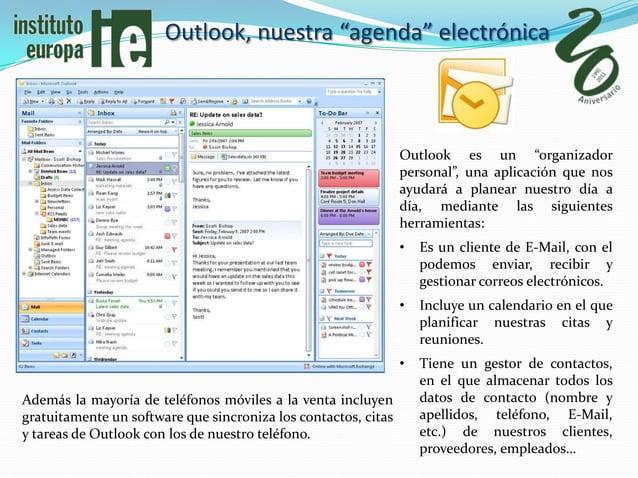 """Outlook, nuestra """"agenda"""" electrónica                                                                Outlook es un """"organi..."""