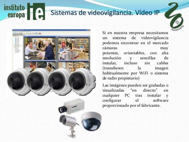 Sistemas de videovigilancia. Vídeo IP                 Si en nuestra empresa necesitamos                 un sistema de vide...