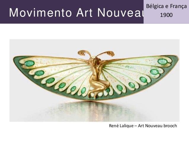 Movimento Art Nouveau Bélgica e França 1900 René Lalique – Art Nouveau brooch