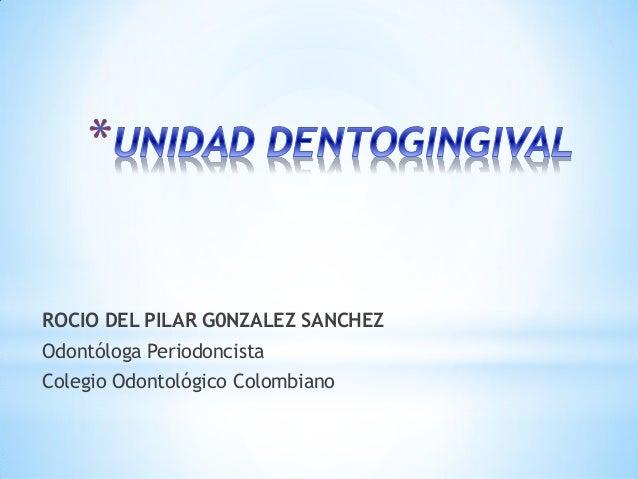 ROCIO DEL PILAR G0NZALEZ SANCHEZOdontóloga PeriodoncistaColegio Odontológico Colombiano