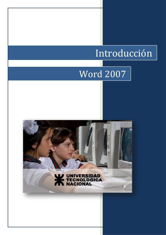 Introducción Word 2007