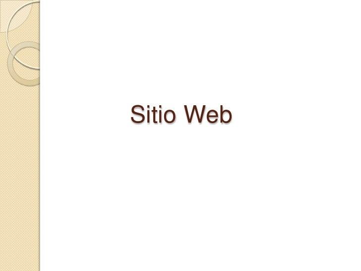 Sitio Web<br />