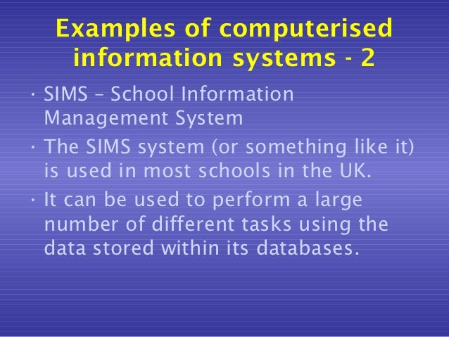 School management systems - the information seekers ...