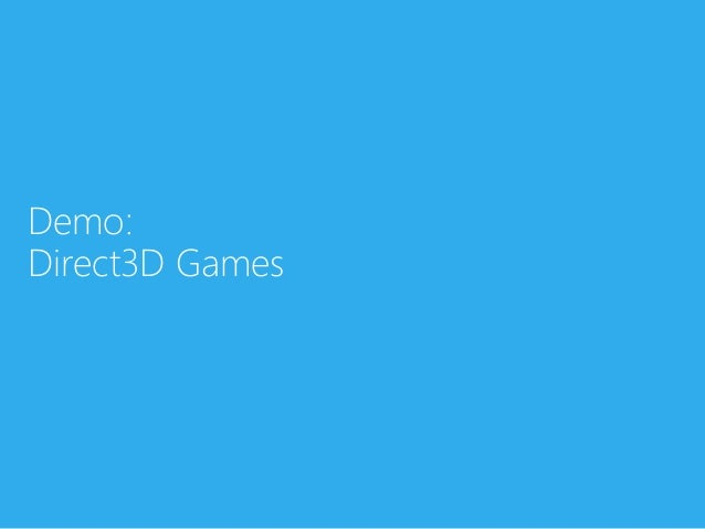 Demo:Direct3D Games