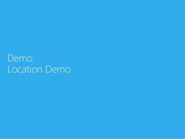 Demo:Location Demo