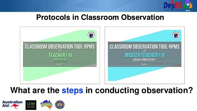 Protocols in Classroom Observation What are the steps in conducting observation?