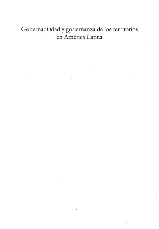Gobernabilidad y gobernanza en los territorios de América Latina Slide 3