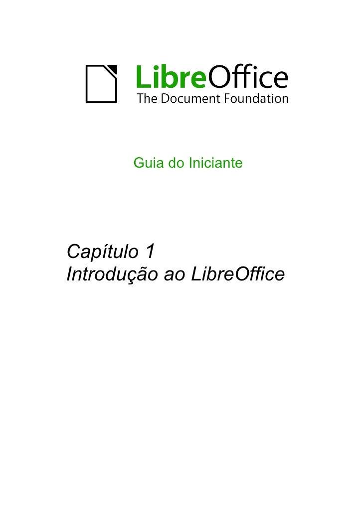 Guia do InicianteCapítulo 1Introdução ao LibreOffice