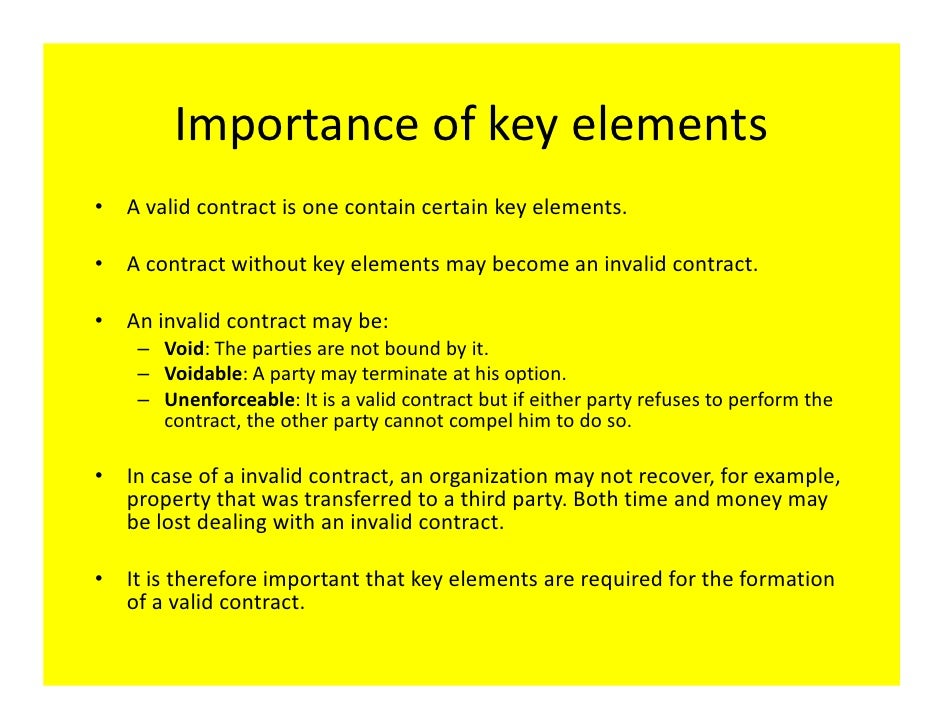 using the four step process element of agreement formation of a contract The complaining party must prove four elements to show that a an agreement not to do considering the circumstances of the contract's formation.