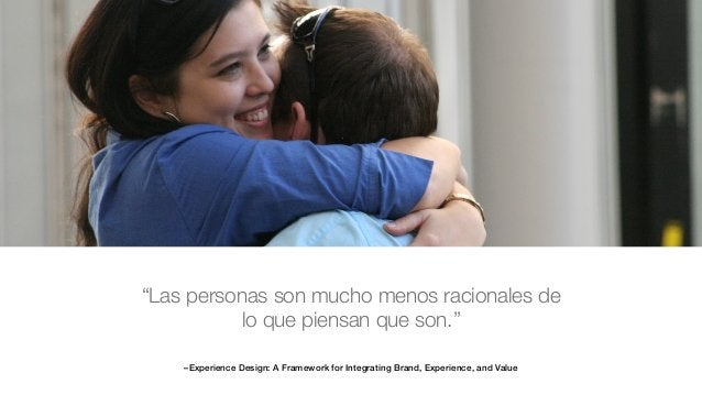 """–Experience Design: A Framework for Integrating Brand, Experience, and Value """"Las personas son mucho menos racionales de l..."""