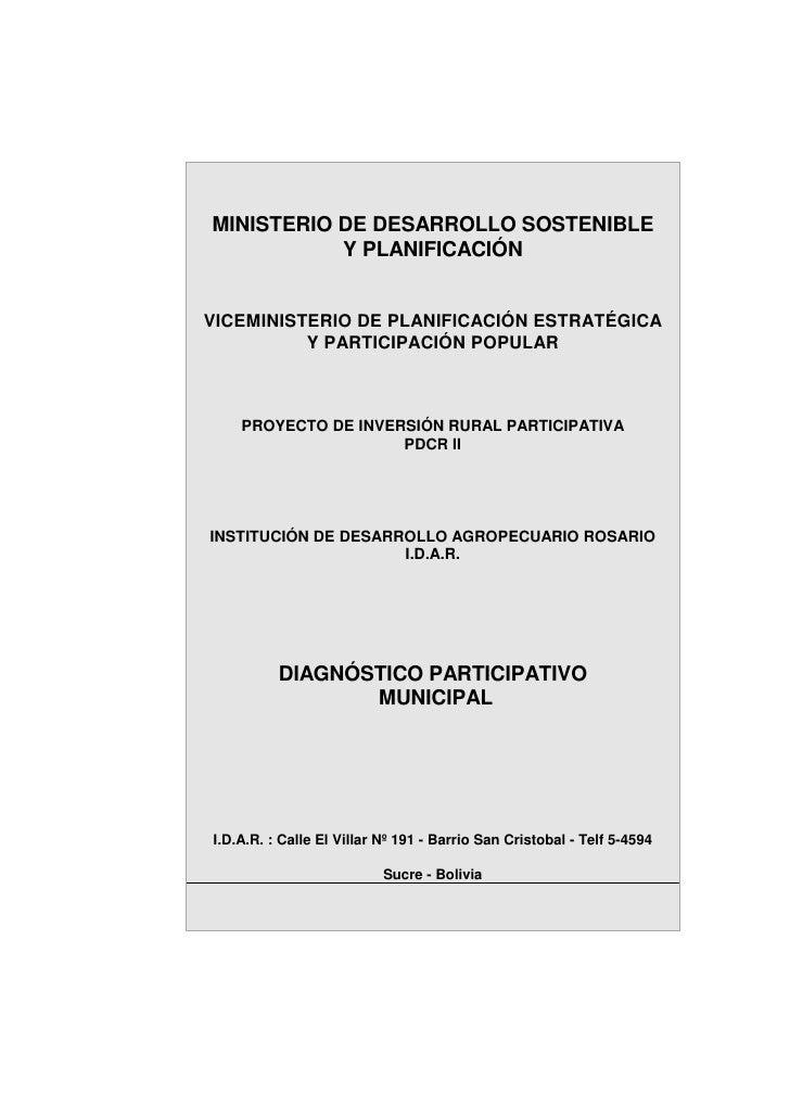 MINISTERIO DE DESARROLLO SOSTENIBLE           Y PLANIFICACIÓNVICEMINISTERIO DE PLANIFICACIÓN ESTRATÉGICA          Y PARTIC...
