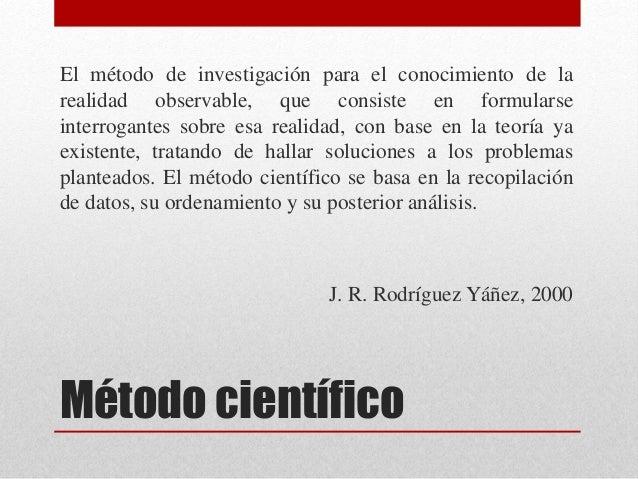 Ciencia y método científico Slide 3