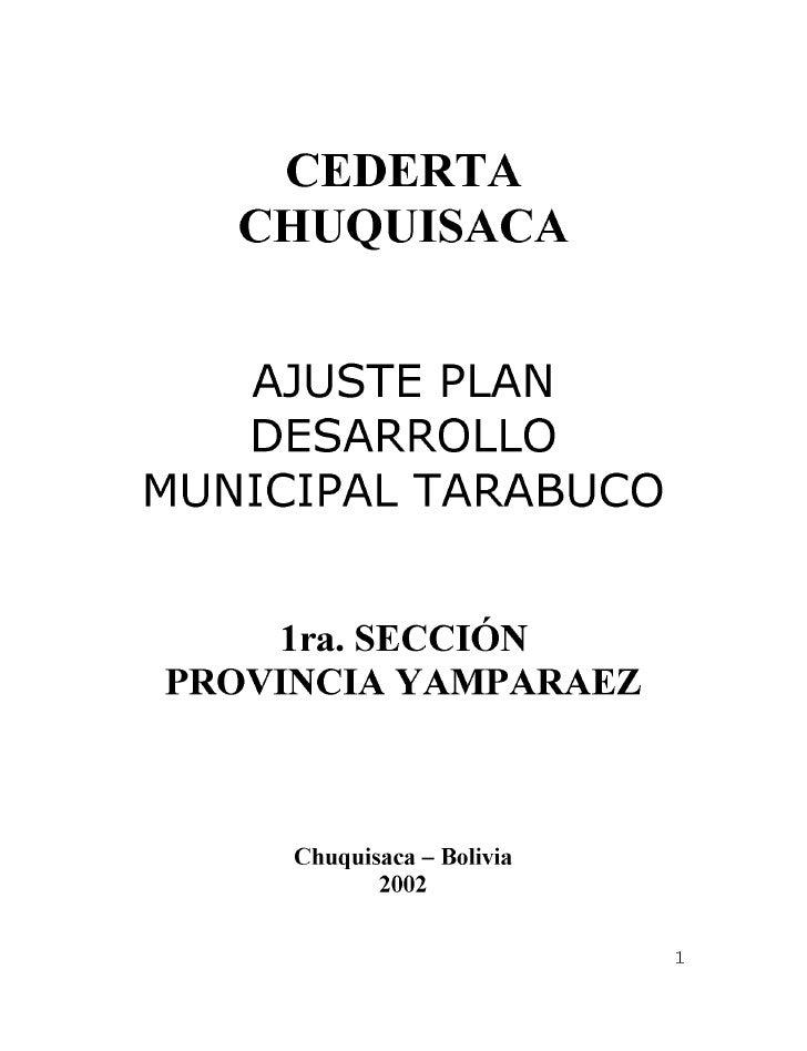 PDM Tarabuco