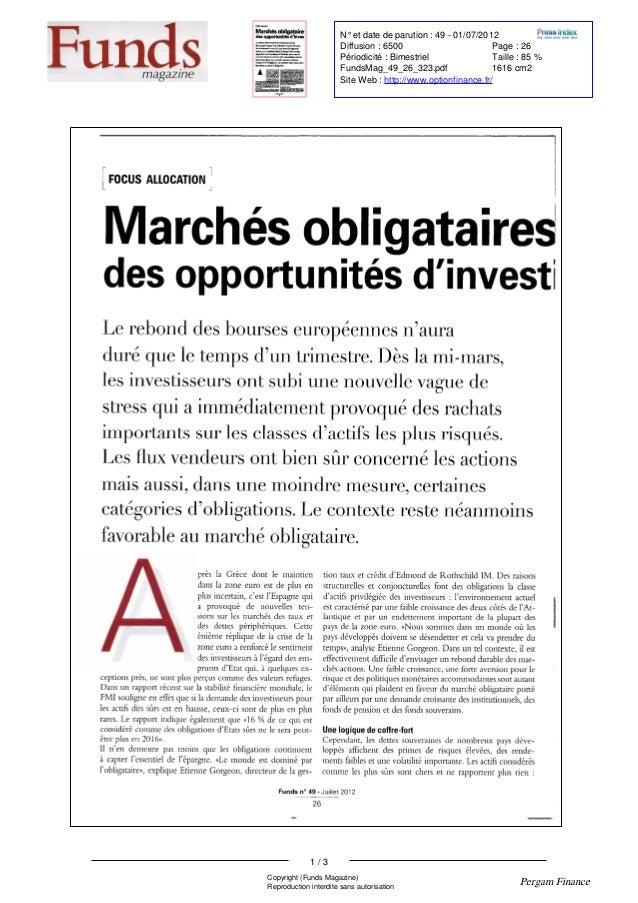 FOCUS ALLOCATION Marchésobligataires desopportunitésd ' investi Lerebonddesbourseseuropéennesn' aura duréquele tempsd ' un...