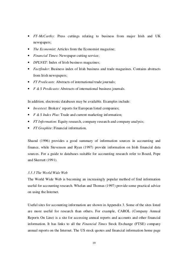 Brennan, Niamh [1998] Accounting Research: A Practical Guide