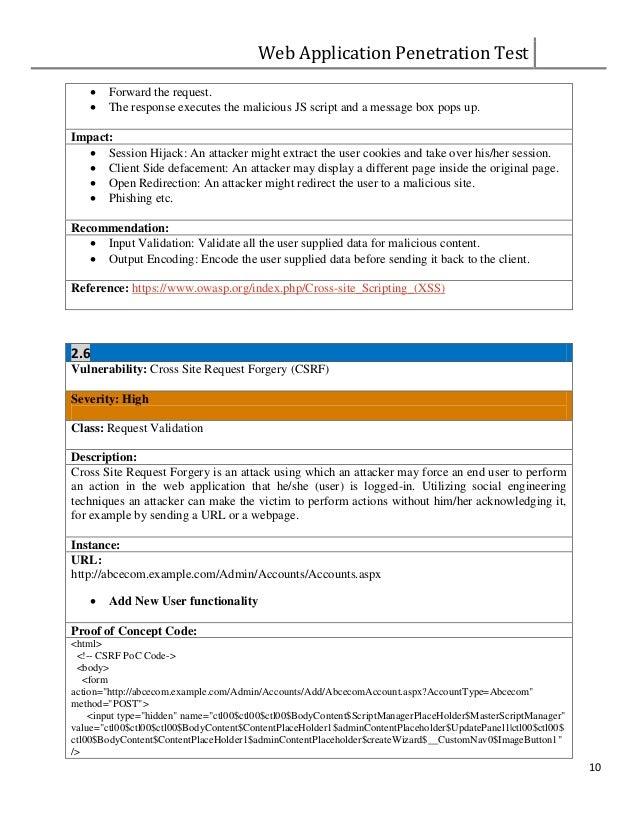 11 Web Application Penetration Test