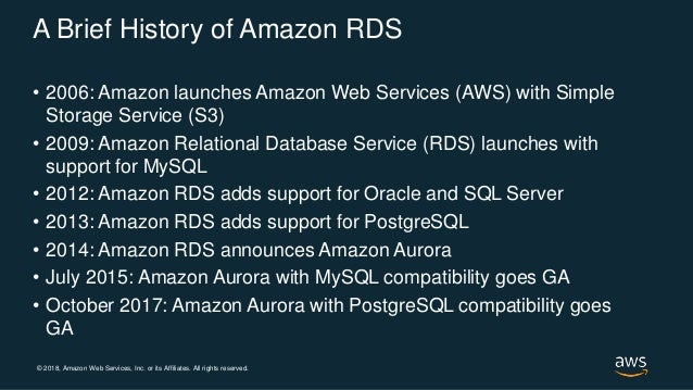 Introducing Amazon Aurora with PostgreSQL Compatibility - AWS Online Tech Talks Slide 3