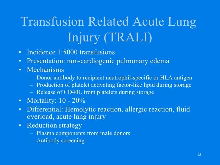 transfusion related acute lung injury pdf