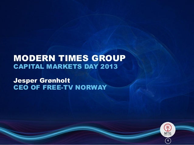 11MODERN TIMES GROUPCAPITAL MARKETS DAY 2013Jesper GrønholtCEO OF FREE-TV NORWAY