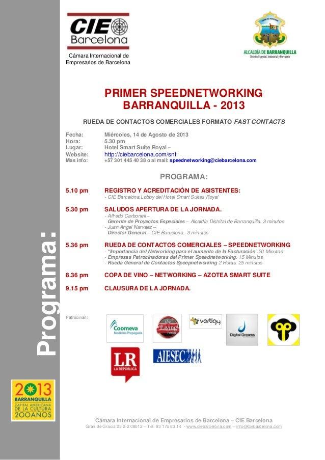 Programa: Cámara Internacional de Empresarios de Barcelona Cámara Internacional de Empresarios de Barcelona – CIE Barcelon...