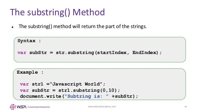 JavaScript - Chapter 10 - Strings and Arrays
