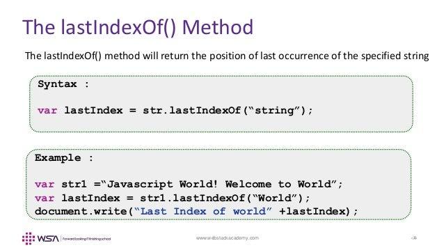 Lastindexof javascript